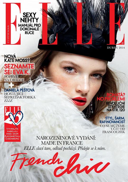 Eva na své první obálce Elle