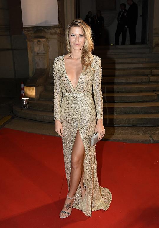 Veronika Kopřivová oblékla velmi sexy šaty.