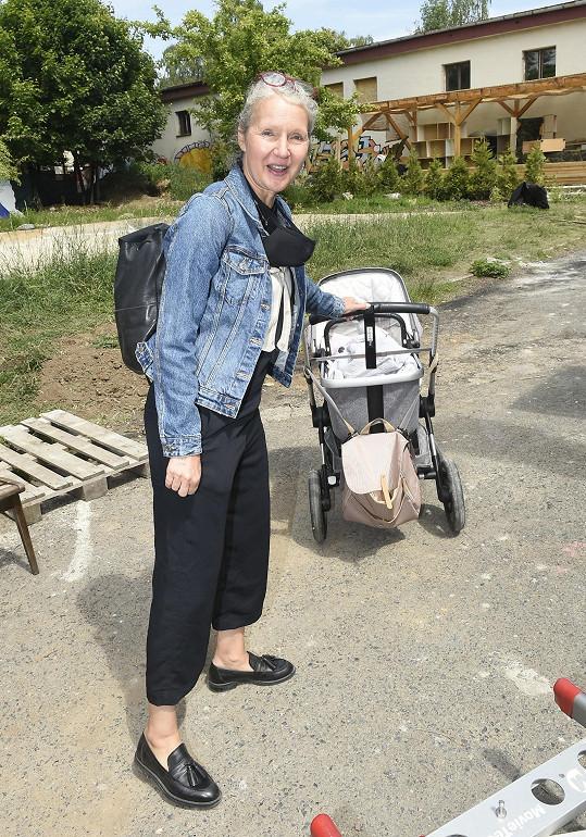 Spisovatelka se těšila na roli babičky.