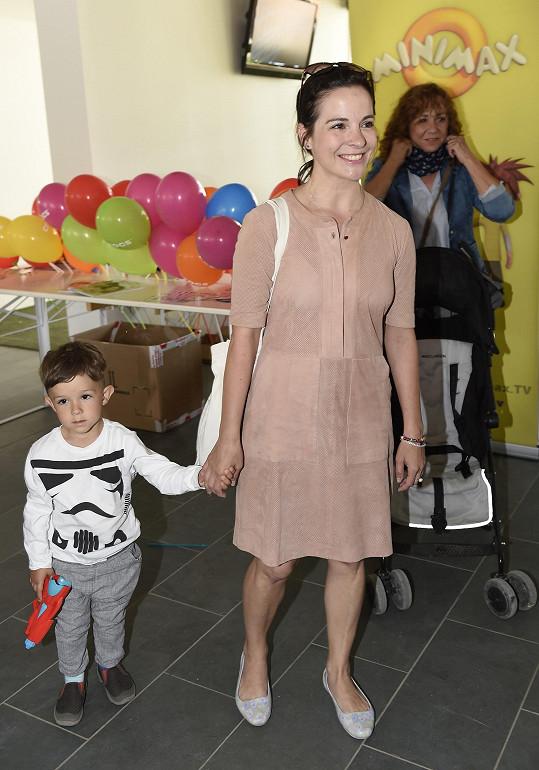 Kristýna Janáčková se synem Luisem Frederikem