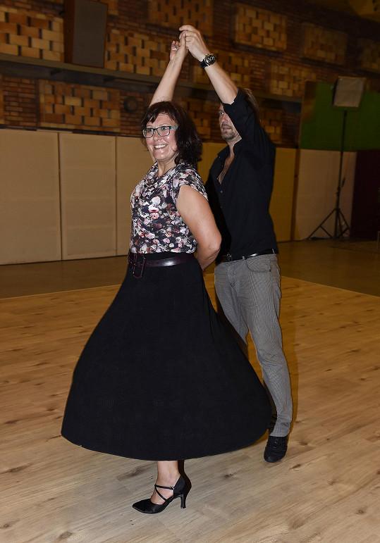 Kateřina se projevuje jako skutečný taneční talent.