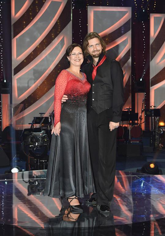 Kateřina se svým tanečním partnerem Petrem Čadkem.