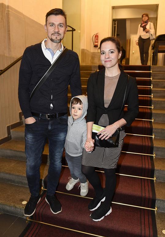 Podívat se přišla i Kristýna Janáčková s partnerem a synem.