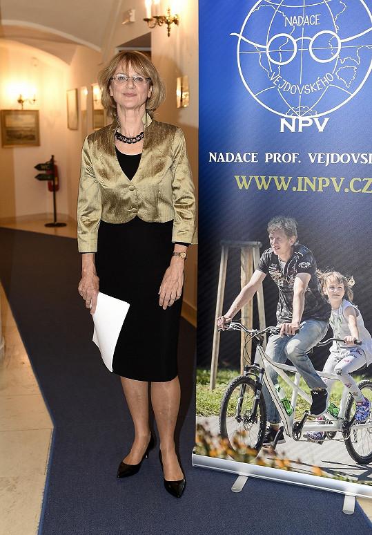 Tatjana Medvecká na oslavě 25 let Nadace profesora Hejdovského.