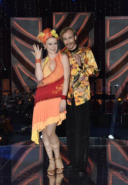 Marie Doležalová se svým tanečníkem