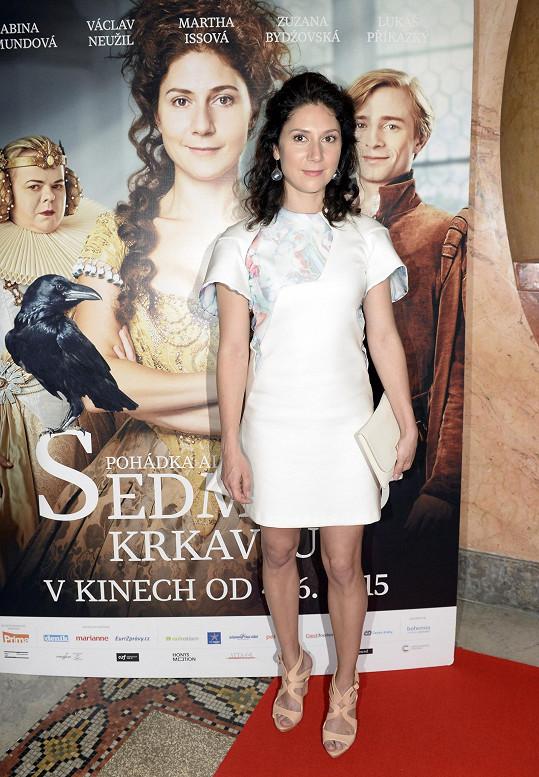 Marta na premiéře snímku Sedmero krkavců