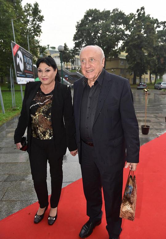 Dagmar Patrasová a Felix Slováček na premiéře Fantoma opery
