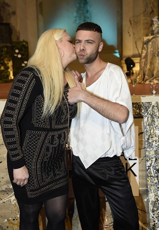 Monika na přehlídce návrháře Michala Marka
