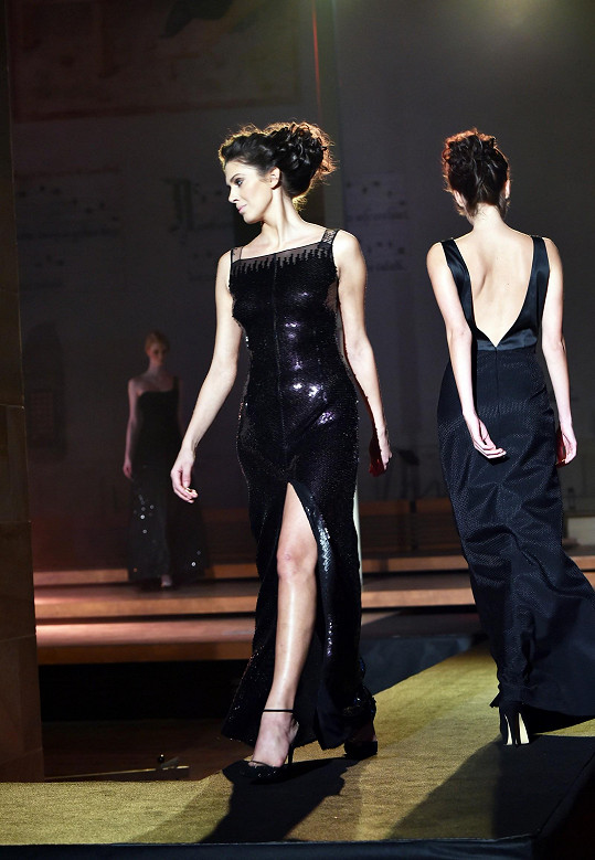 Aneta Vignerová na módní show Beaty Rajské