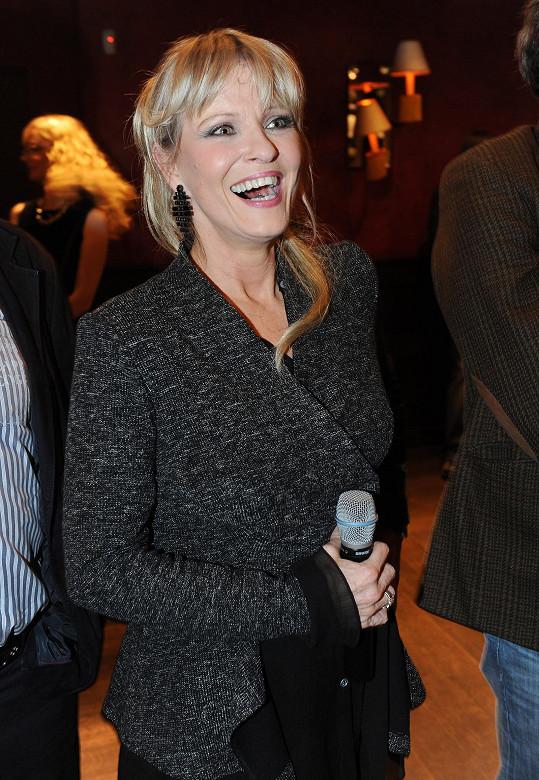 Chantal Poullain měla radost z výtěžku pro svou nadaci.