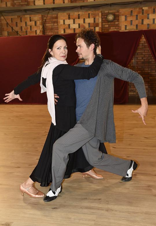 Anna K se svým tanečníkem Markem Hrstkou