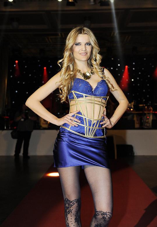 Prádlo předváděla i Veronika Procházková.