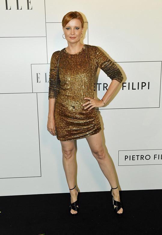 Herečka Jitka Schneiderová nemohla v Klubu 54 chybět.