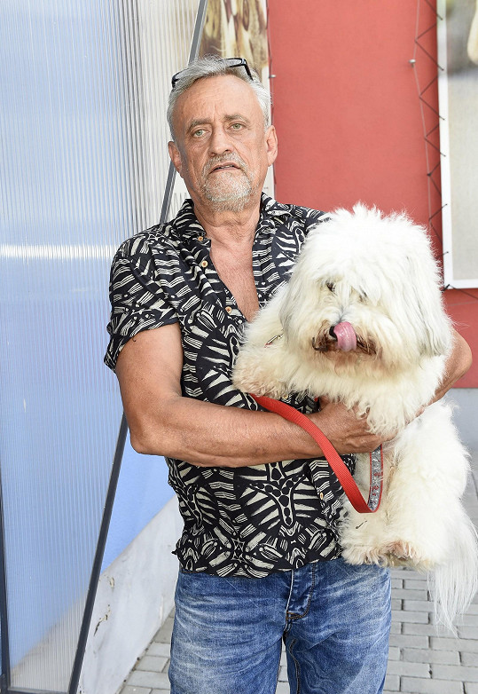 Richard Tesařík a jeho mazlíček