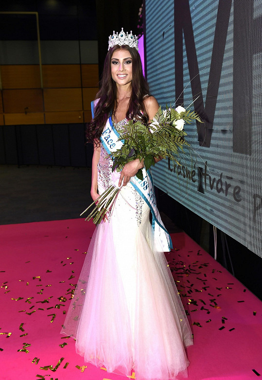 Natálie Myslíková skončila třetí na Miss Face.