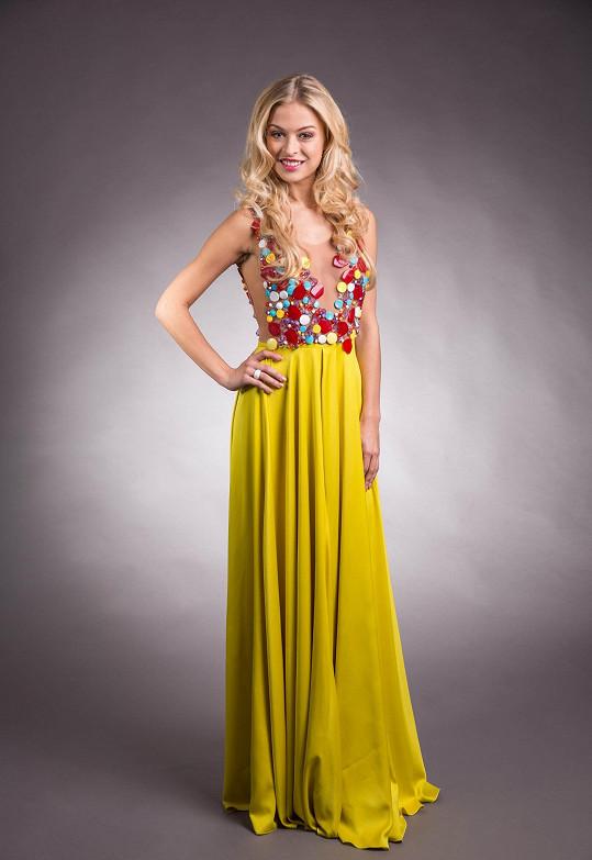V těchto šatech vystoupí Česká Miss Earth 2016 na světovém finále.