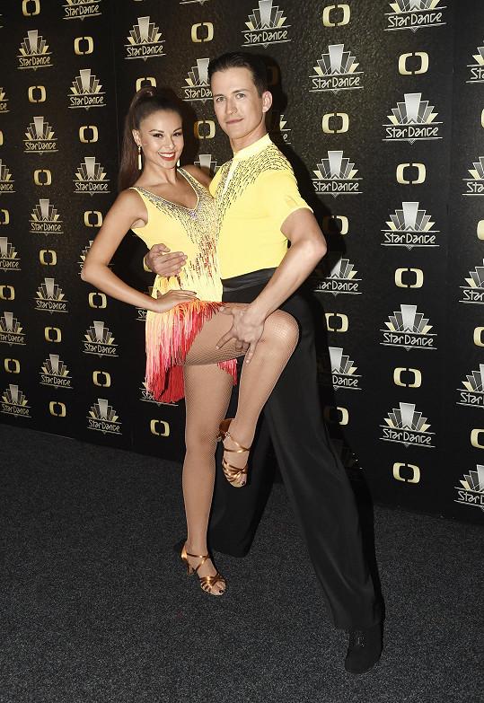 Monika tančila po boku Robina Ondráčka.