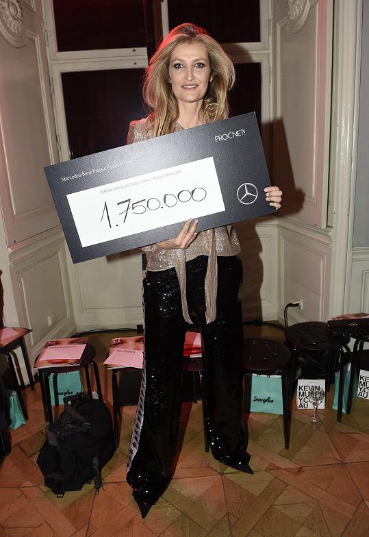 Díky dražbě uměleckých předmětů získala Tereza pro svou nadaci 1 750 000 korun.