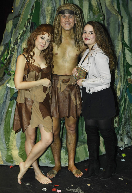 Ivana se svým muzikálovým kolegou Davidem Gránským a Klárou.