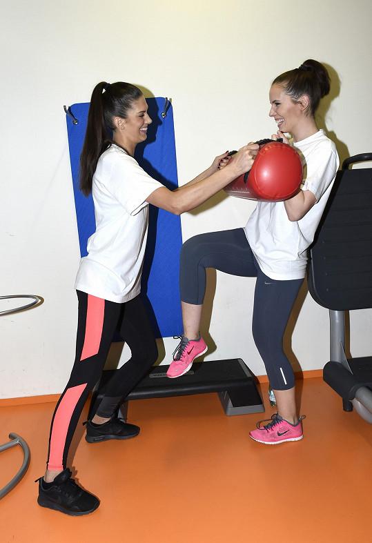 Aneta a Andrea často společně dochází na kruhové tréninky.