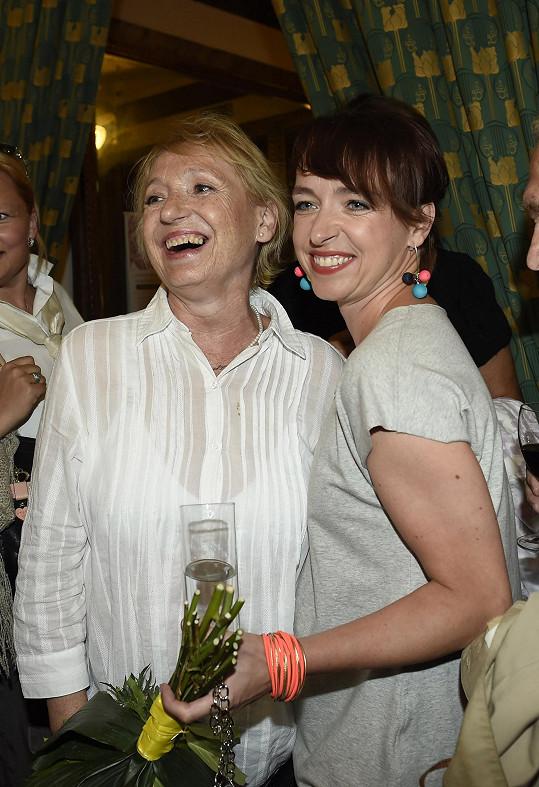 Táňa Vilhelmová s maminkou