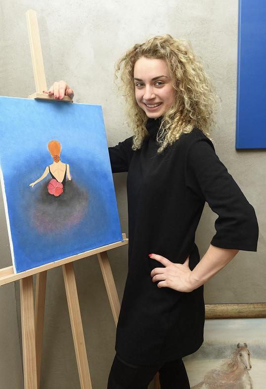Natálka se vedle tančení a hraní věnuje i malování.
