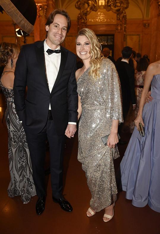 Andrea Sestini Hlaváčková s manželem Fabriziem