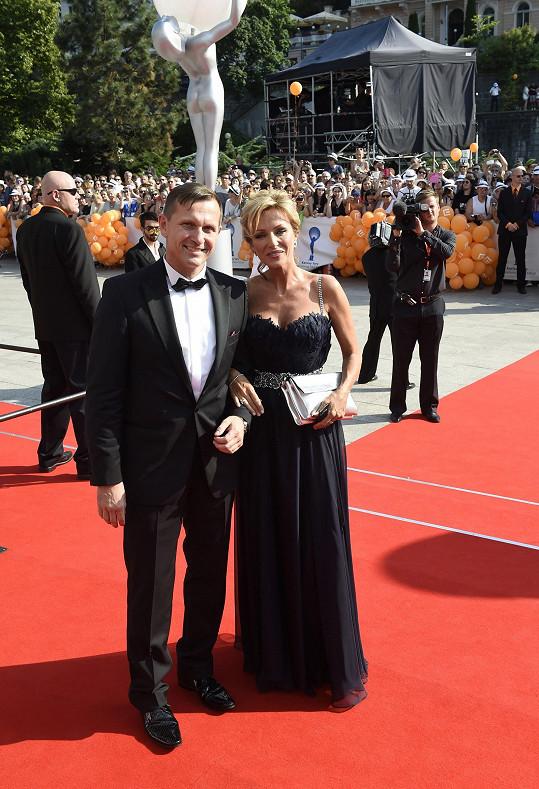 Kateřina s přítelem Jaromírem Soukupem