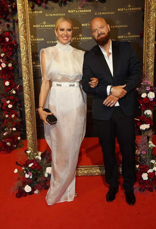 Simona s manželem Karlem Vágnerem na Moët párty