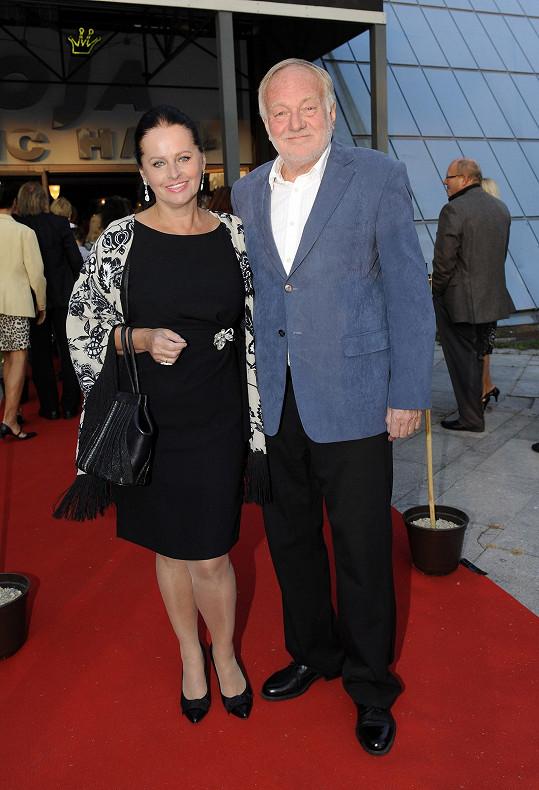 Luděk Sobota s manželkou Adrienou