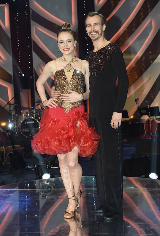 Marie Doležalová s tanečníkem Markem Zelinkou
