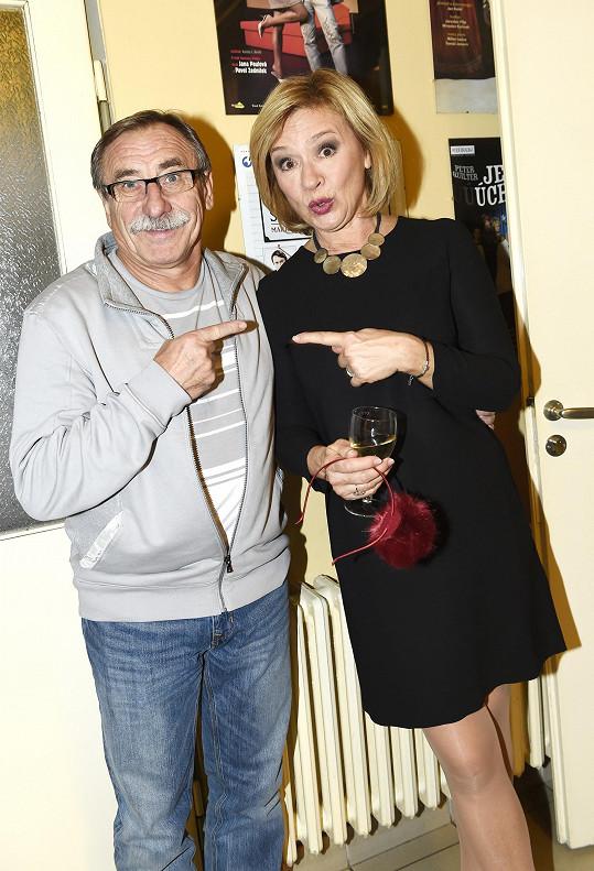 Se svým věrným divadelním souputníkem Pavlem Zedníčkem