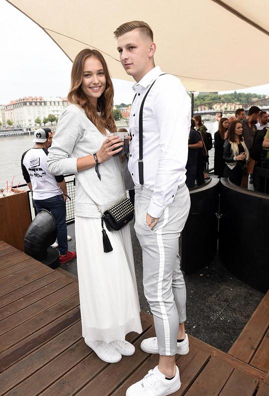 Lea Šteflíčková s přítelem Michalem Jenechem