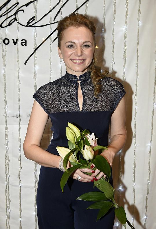 Martina Kociánová uváděla módní přehlídku.