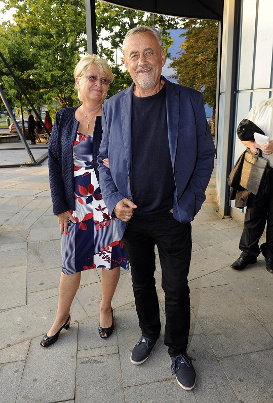 Richard Tesařík s manželkou