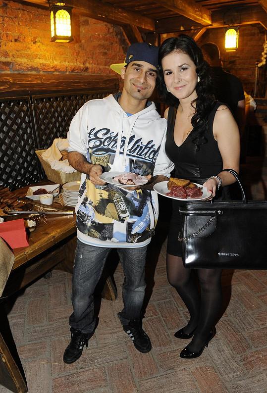 S manželkou Veronikou na otevření nové restaurace