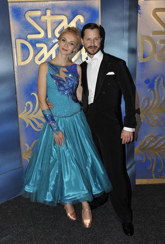 Jana se svým tanečníkem Michalem Padevětem