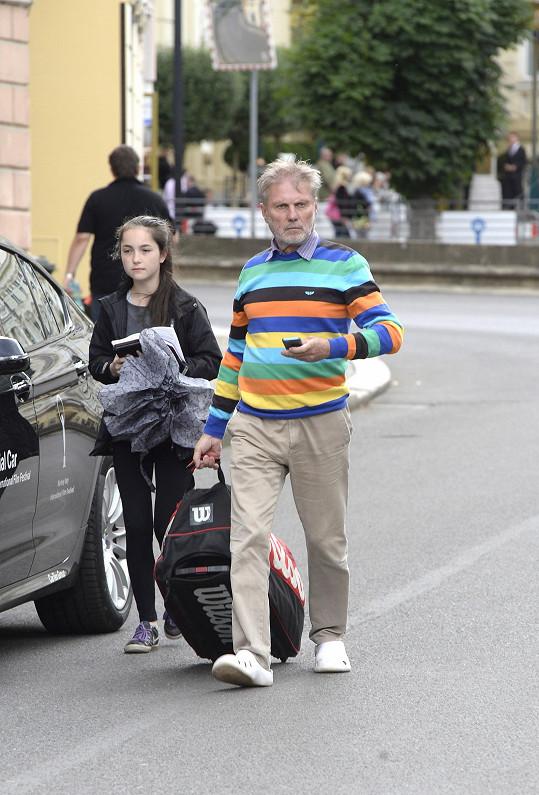 Merta přijel do Varů kvůli tenisu.