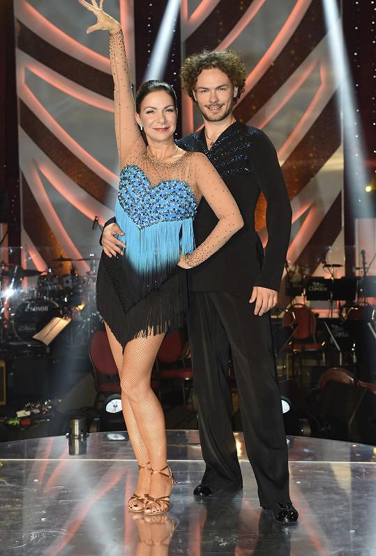S tanečním partnerem Markem Hrstkou si rozumějí.