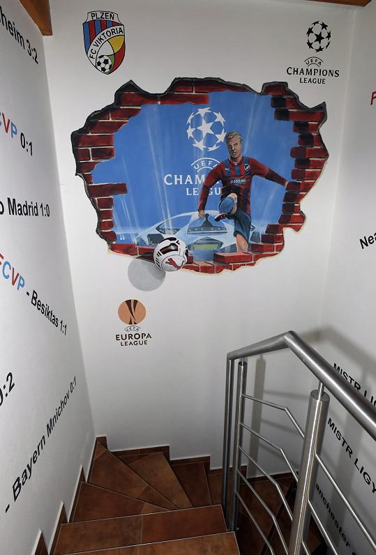 Už na schodech je jasné, kam se jde.