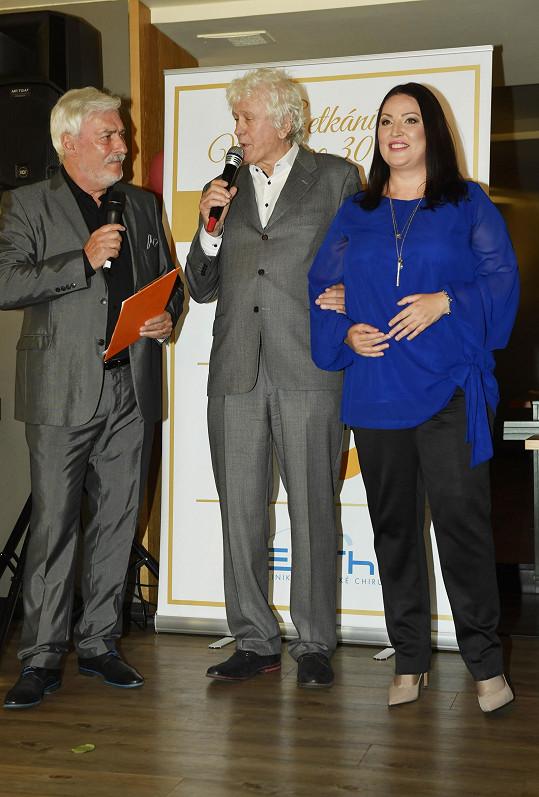 Se zakladatelem soutěže Milošem Zapletalem (uprostřed) a Janem Rosákem.