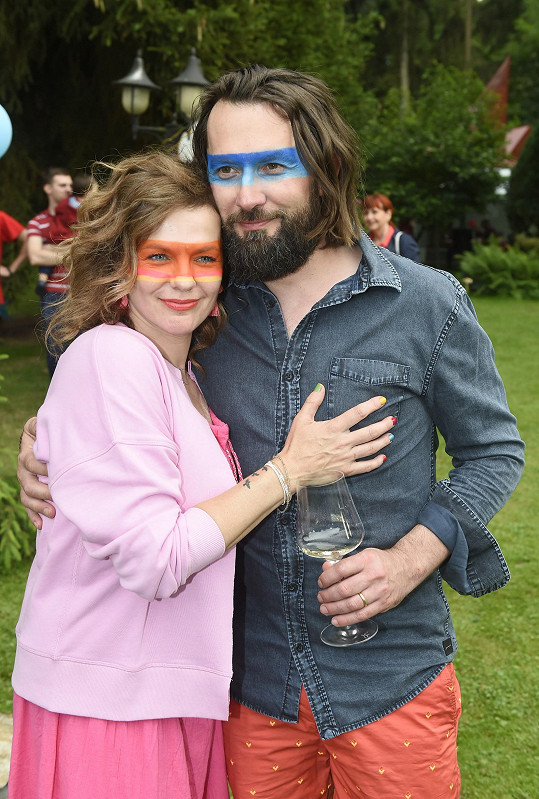 Marta s manželem, gynekologem Míroslavem Vernerem