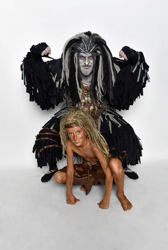Pepa s malým představitelem Tarzana