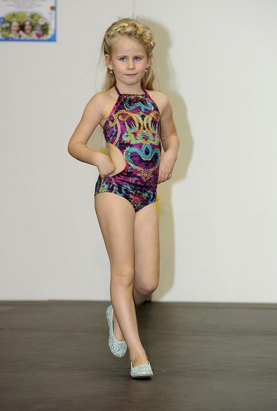 Deniska si jako modelka počínala skvěle.