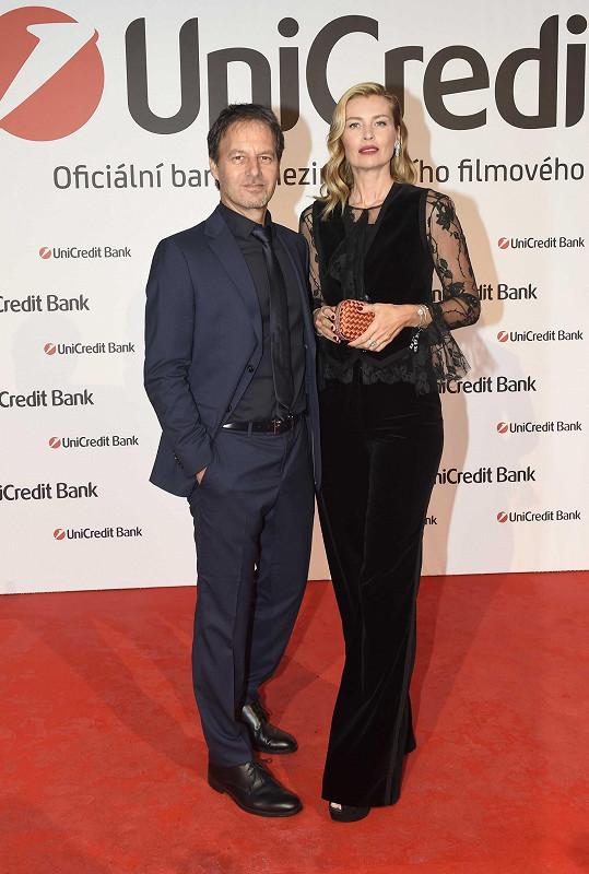 S partnerem Pavolem Haberou na párty