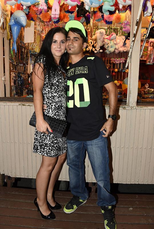 Radek s manželkou Veronikou na otevření asijské restaurace