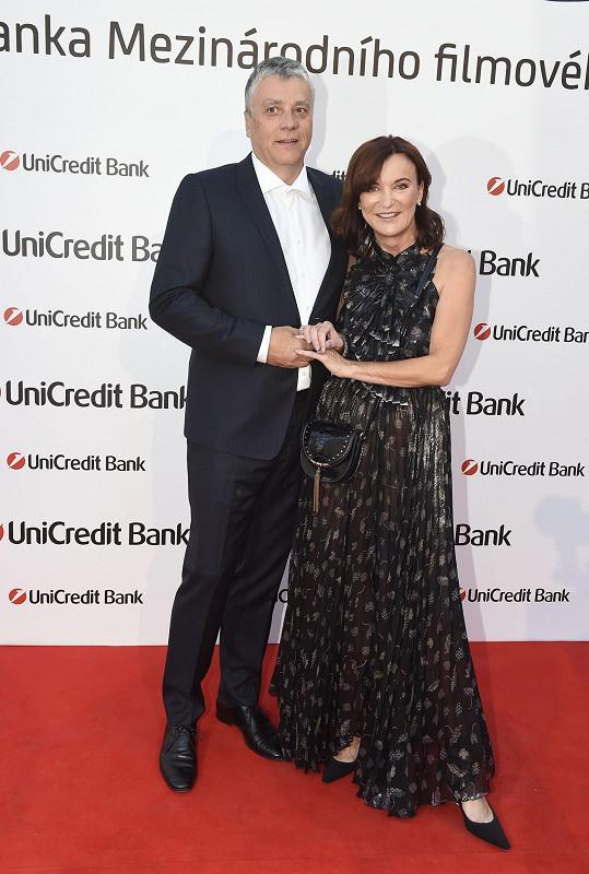 Návrhářka Beata Rajská s manželem