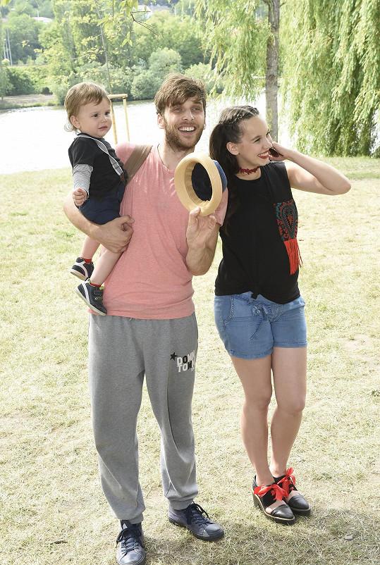 Michaela Tomešová s manželem Romanem a synem Kristiánem
