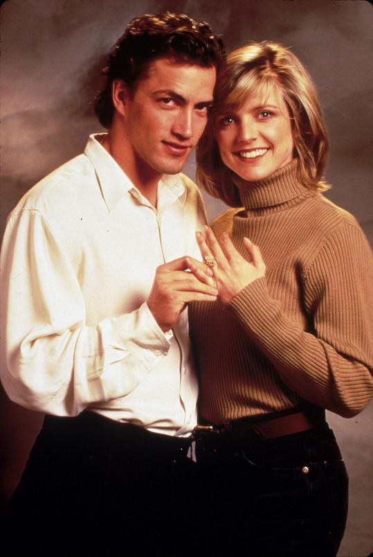 Andrew Shue a Courtney Thorne-Smith, která hrála Alison.