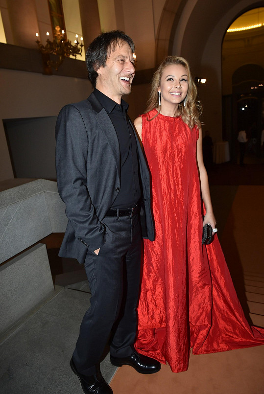 Monika se během večera potkala s Paľem Haberou, který stál u zrodu její kariéry jako porotce SuperStar.